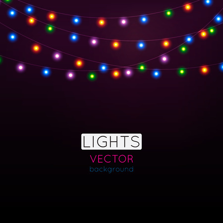 Abstract background with bright lights