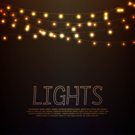 Abstract Hintergrund mit leuchtenden Lichter Illustration