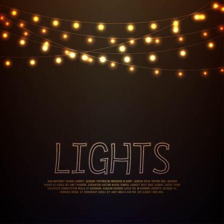 semaforo rosso: Sfondo astratto con luci incandescente