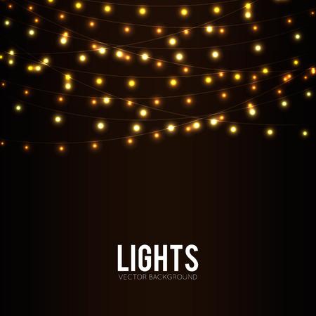 白熱灯と抽象的な背景
