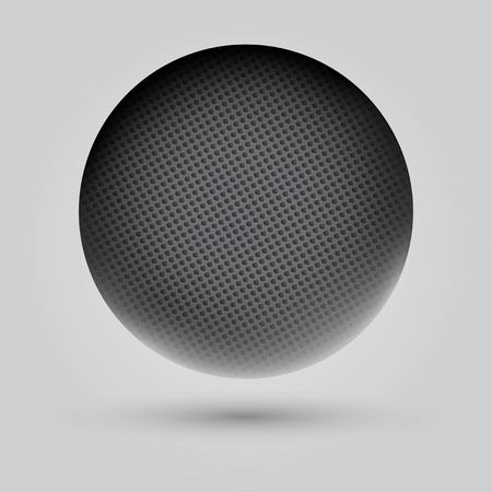 nanotechnology: Perforated metal sphere with shadow Illustration