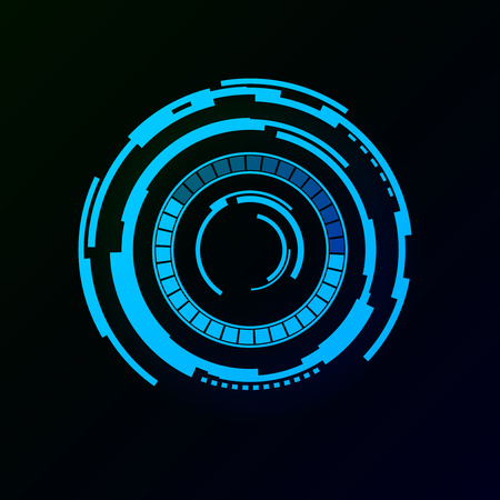 Abstract futuristic background with spaceship HUD