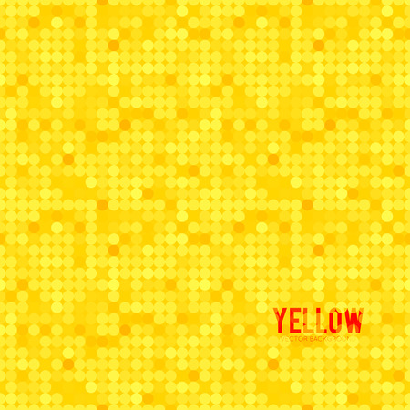 Abstract background with many bright yellow circles
