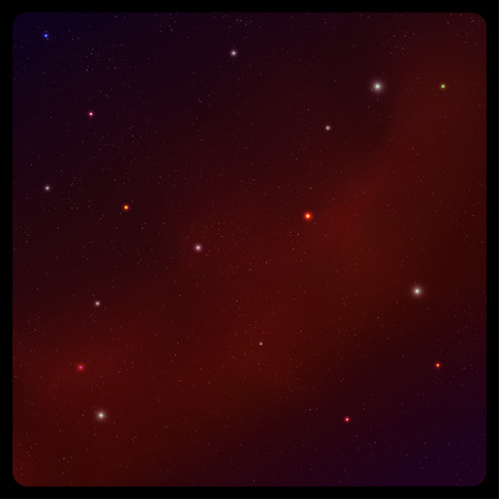 starfield: Abstract space background with frame
