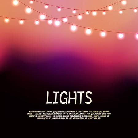 빛나는 불빛과 함께 추상적 인 배경