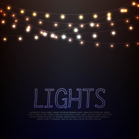 Abstract background with glowing lights Vector