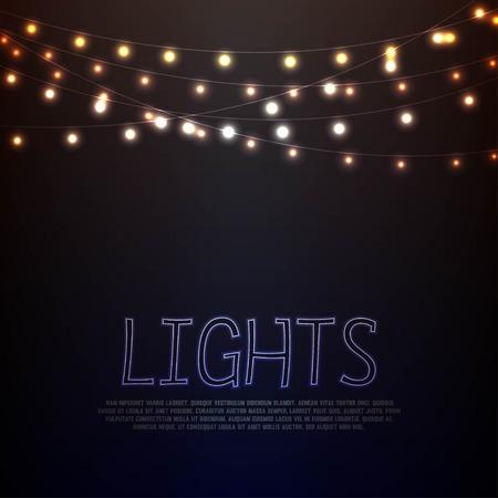 Światła: Abstrakcyjne tła z Żarzące światła