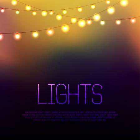 white light: Resumen de fondo con luces brillantes