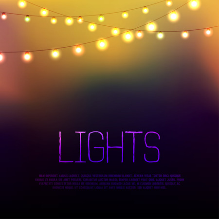 Abstract background with glowing lights