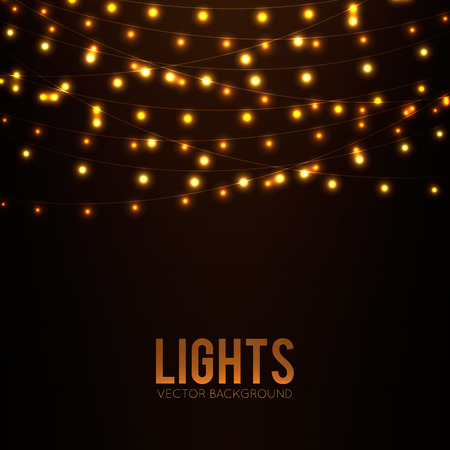 strings: Abstract background with glowing lights