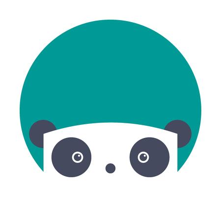 cartoon panda: Flat cartoon panda icon isolated on white background Illustration