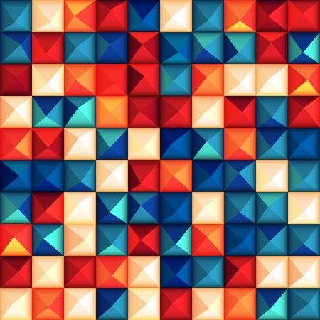 Seamless background with glossy relief plastic triangles