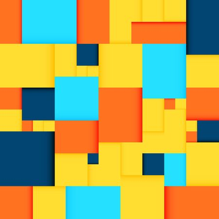 many colored: Seamless background with many colored rectangles