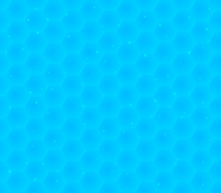 Abstract background with many blue hexagonal cells