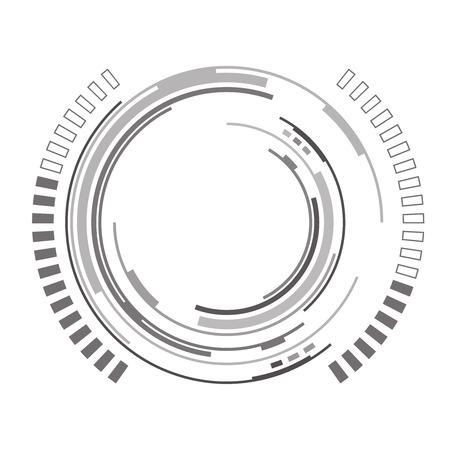 raumschiff: Abstrakte futuristische Hintergrund mit Raumschiff HUD Entwurf