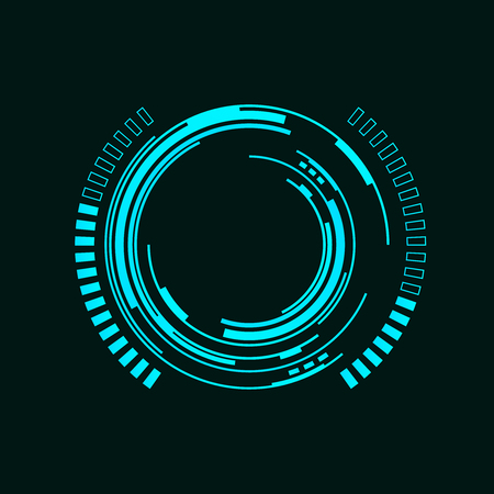spaceship: Abstract futuristic background with spaceship HUD
