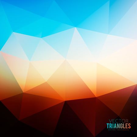 good evening: Abstract evening blurred background with triangles