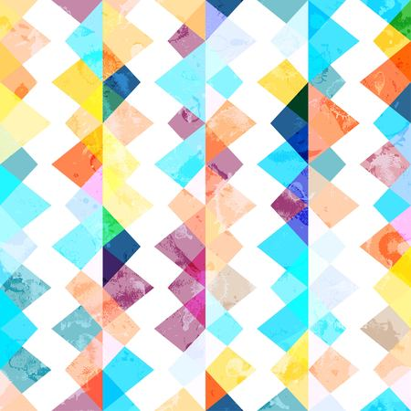 swag: Abstract geometric background with grunge texture Illustration