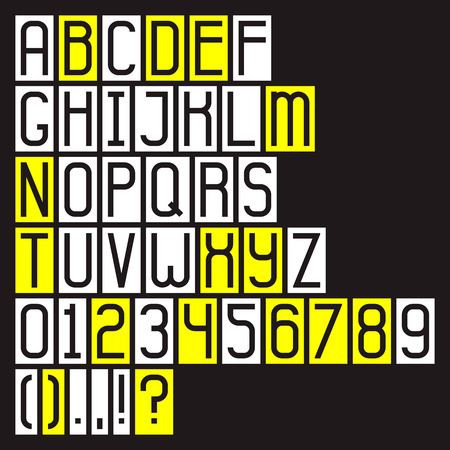 accurate: Accurate alphabet, letters and digits Illustration