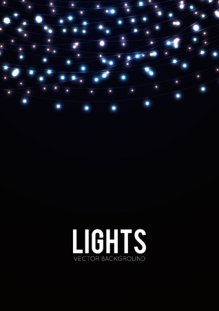 string lights: Abstract background with glowing lights