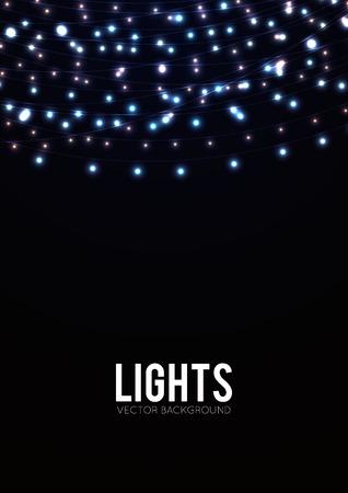 Résumé de fond avec des lumières incandescentes Banque d'images - 37295858