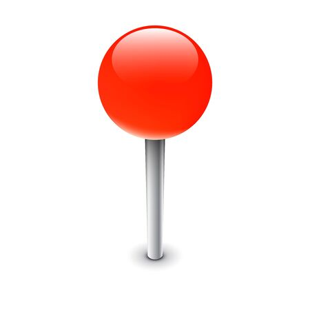 Red pin, isolated map marker