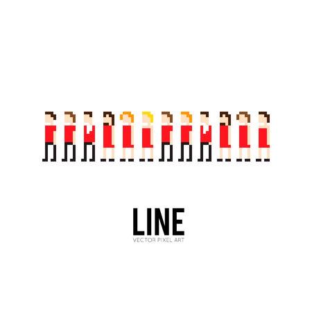 8bit: Arte Pixel gruppo 8-bit di persone