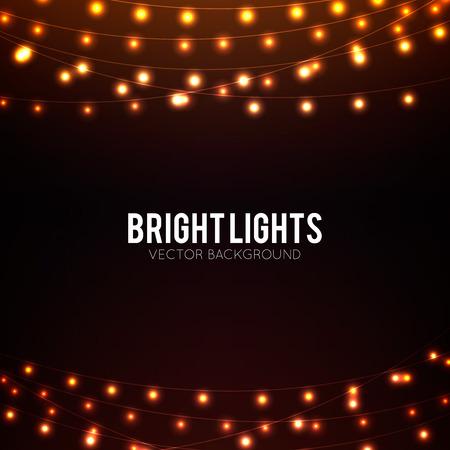 黄金色の輝くライトと抽象的な背景