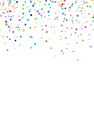 Abstract background with falling confetti