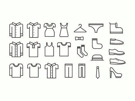 Set of outline clothes icons Фото со стока - 37295968