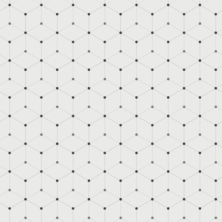 background pattern: Abstract background with many hexagons with circles on vertices