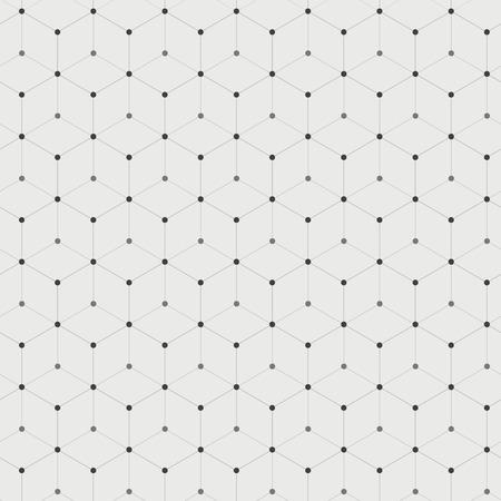Abstracte achtergrond met veel zeshoeken met cirkels op de hoekpunten Stock Illustratie