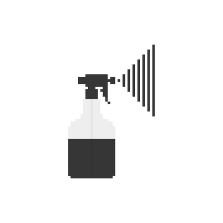 sprayer: Pixel art monochrome sprayer icon