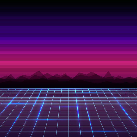 Abstract retro 80's sci-fi background