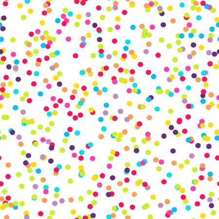 Seamless background with many tiny round confetti pieces