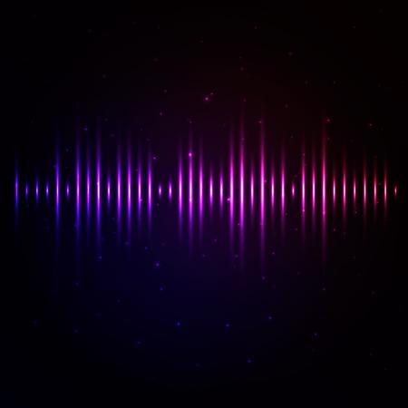 光るイコライザー ラインのベクトルの背景  イラスト・ベクター素材