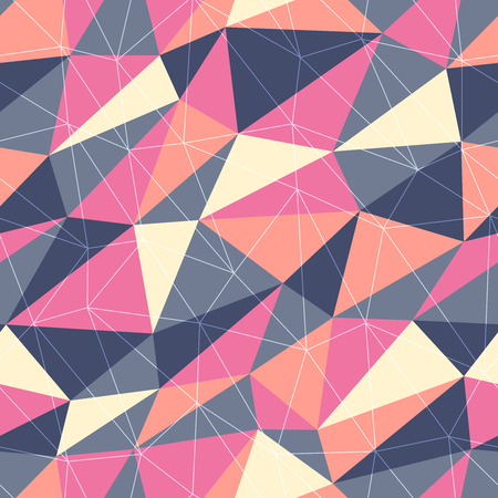 wit: Seamless retro background wit triangles
