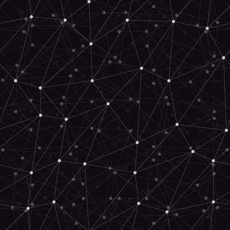 dark backgrounds: Dots with connections, triangles dark background Illustration
