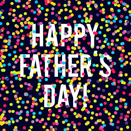 blue white: Happy fathers day background with many round confetti pieces