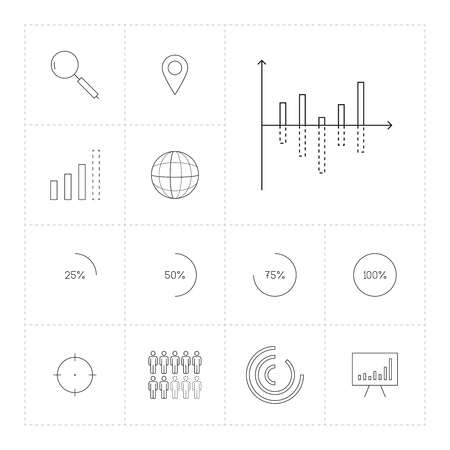demography: Set of different infographics icons