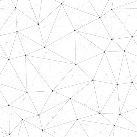 geometric lines: Dots with connections, triangles light background