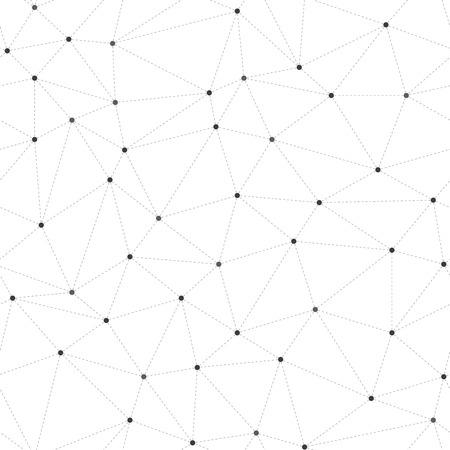 Abstracte naadloze achtergrond, stippen verbonden met stippellijnen Stock Illustratie
