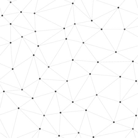 Abstract seamless background, dots connected with dashed lines