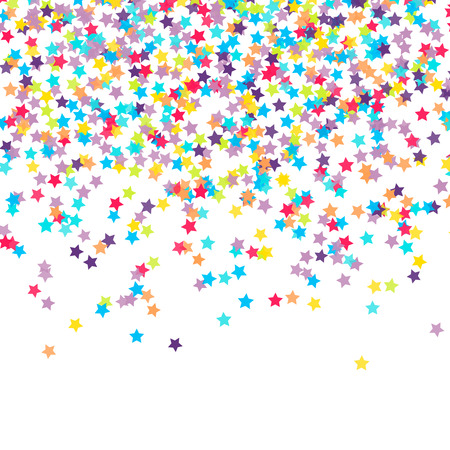 blue stars: Abstract background with falling star-shaped confetti