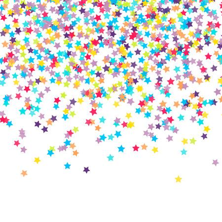 célébration: Résumé de fond avec confettis tombent en forme d'étoile Illustration