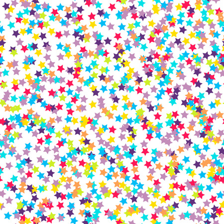 Seamless background with many tiny star-shaped confetti pieces