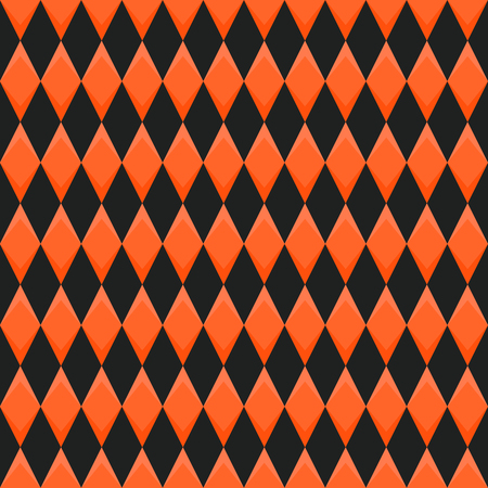 background orange: Abstract seamless background with black and red diamonds Illustration