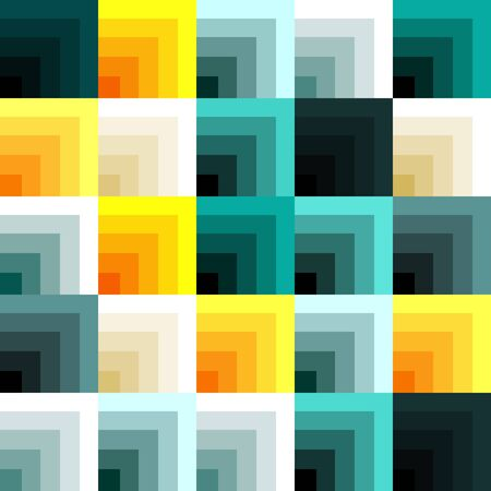 many colored: Abstract background with many different colored transparent squares