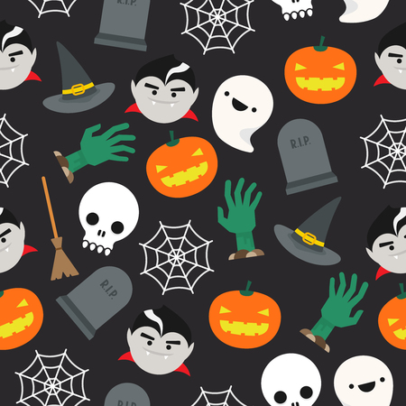 backdrops: Seamless background with halloween pattern