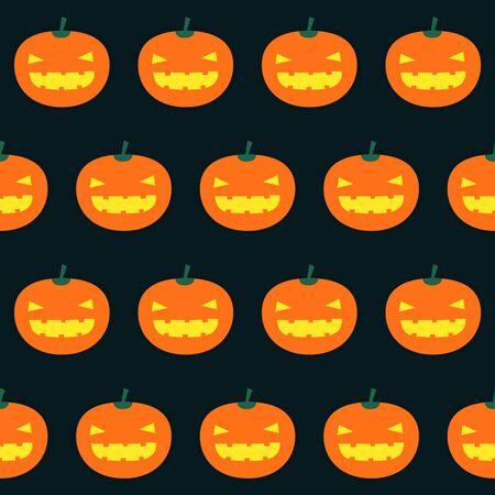 Seamless background pattern with halloween pumpkins